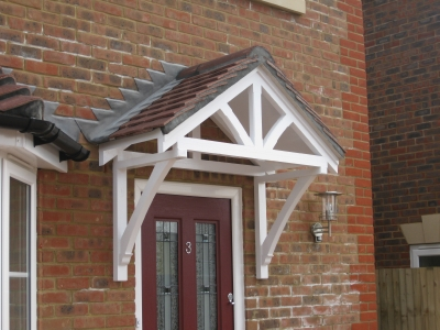 Timber door canopies- traditional cottage canopies - front door canopies : porch canopy designs - memphite.com