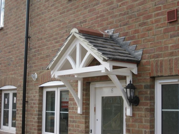 & Cottage porch canopies - fleur de lys style