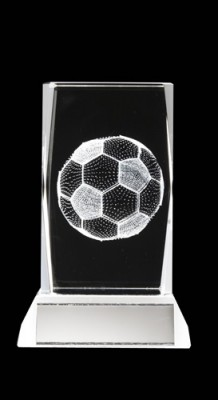 STOCKTDM001 GLASS FOOTBALL TROPHY