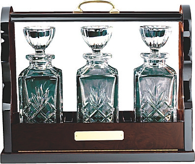 Tantalus & Two Crystal Decanters