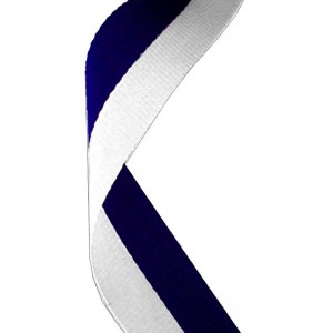 Navy Blue/white Medal Ribbon 22mm Wide