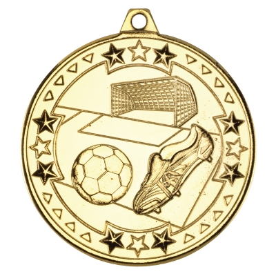 Football Medal With Ribbon 50mm (not Engraved)