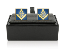 Lovely Enamel Masonic Cufflinks