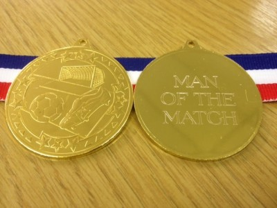 Football Medal With Ribbon 50mm (engraved)
