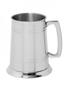 English Pewter 1 Pint 2 Lined Tankard