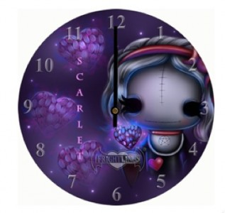Scarlet Witchling Clock by Frightlings.