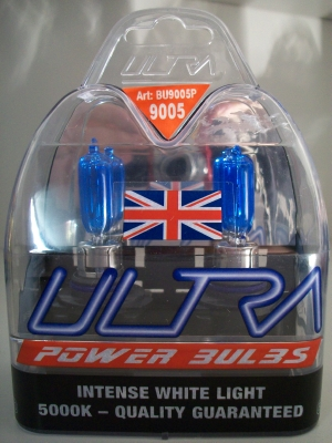 Power Bulbs HB3 9005 Fitment... Intense White Light..