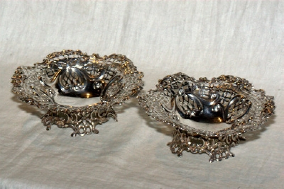 A Pair of Silver Bon Bon Dishes