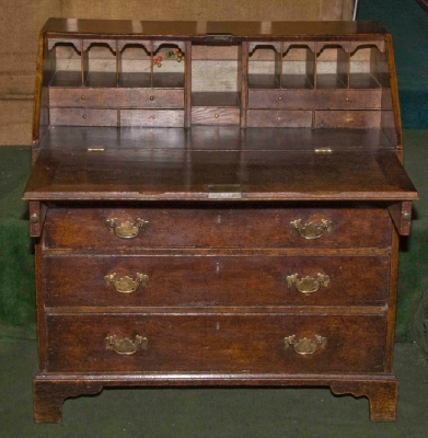 An Antique Oak Bureau