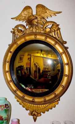 Regency Gilt Convex Mirror c.1810
