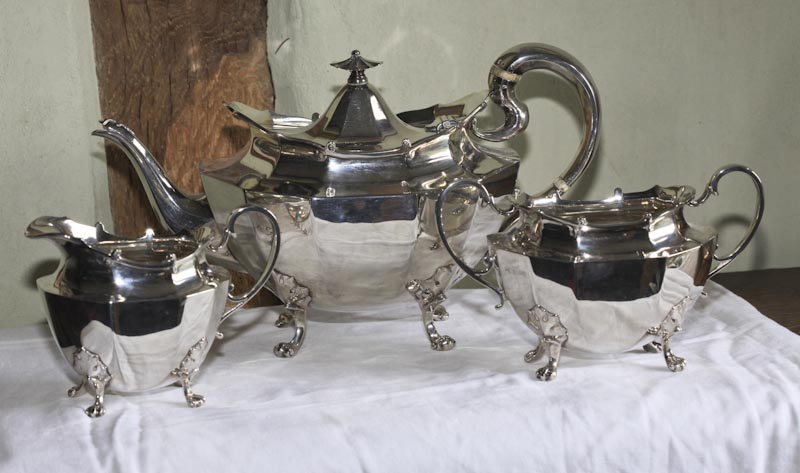 Solid Silver 3-piece Tea Set c.1912-38