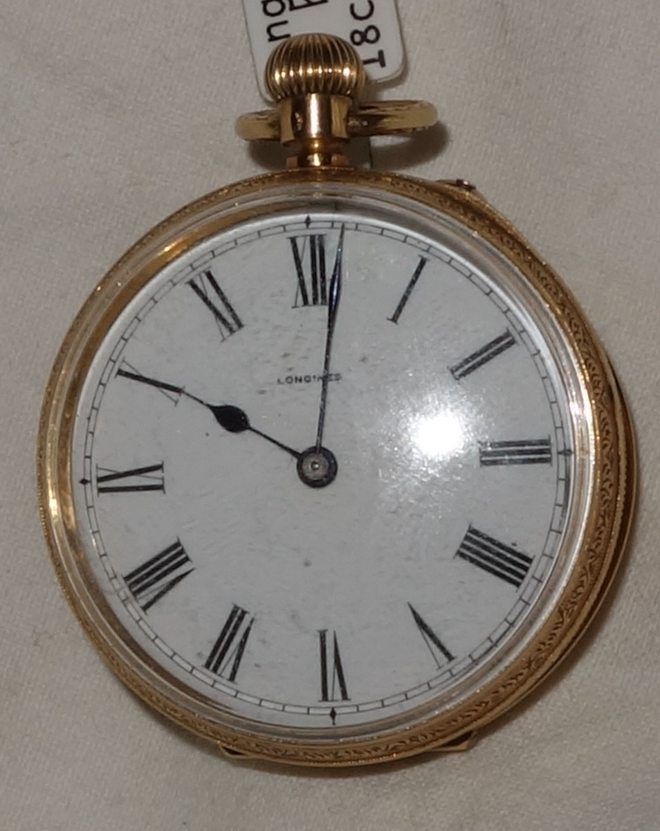 18ct Longines Ladies Pocket Watch c.1950