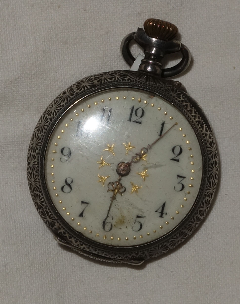 Ladies Silver Pocket Watch