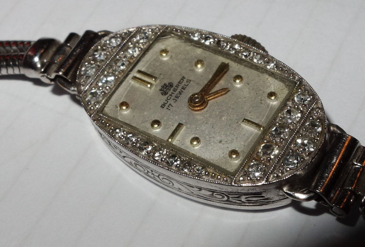 18KWG Diamond Bucherer Cocktail Watch