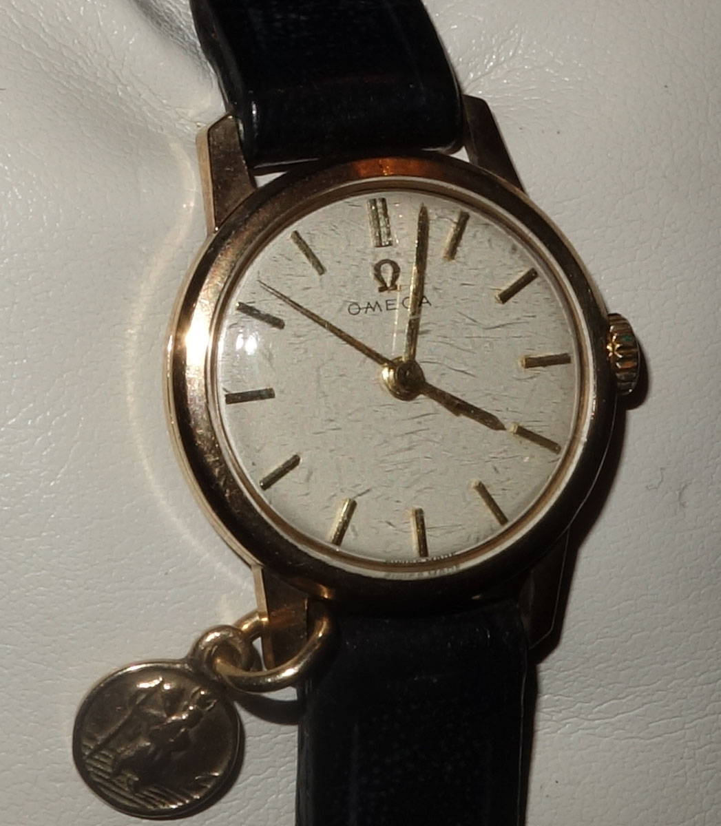 Ladies Gold Omega Watch