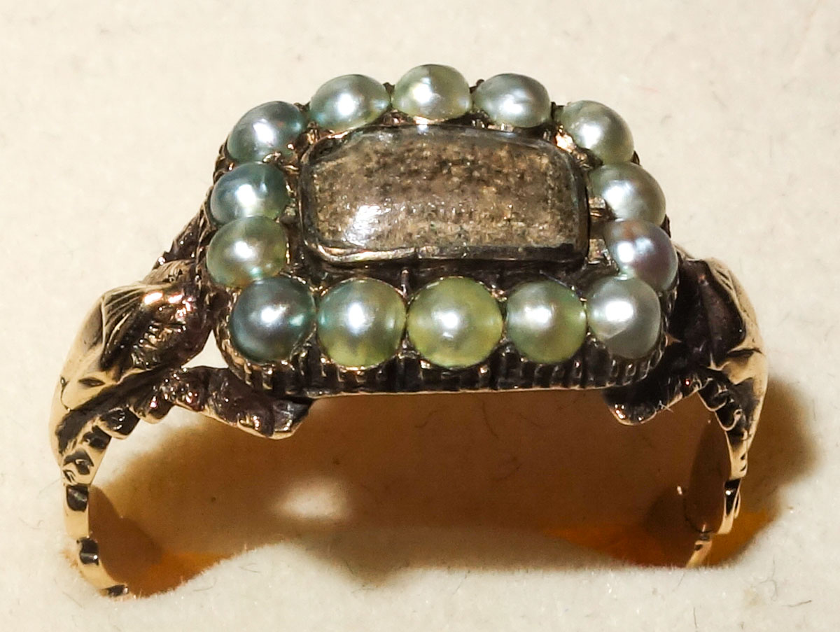 Ring Georgian Pearl mourning