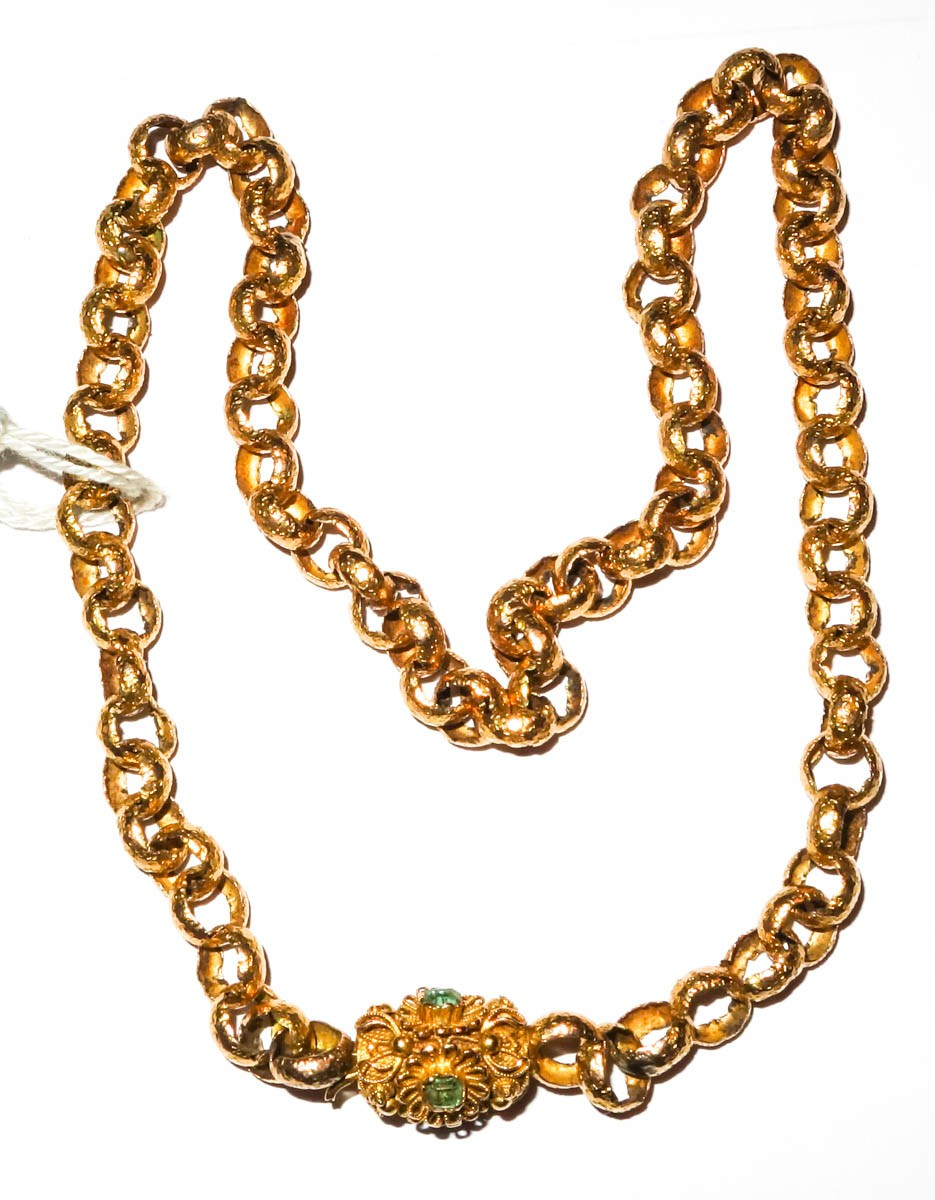 Necklace 18 Ct Solid Gold Georgian