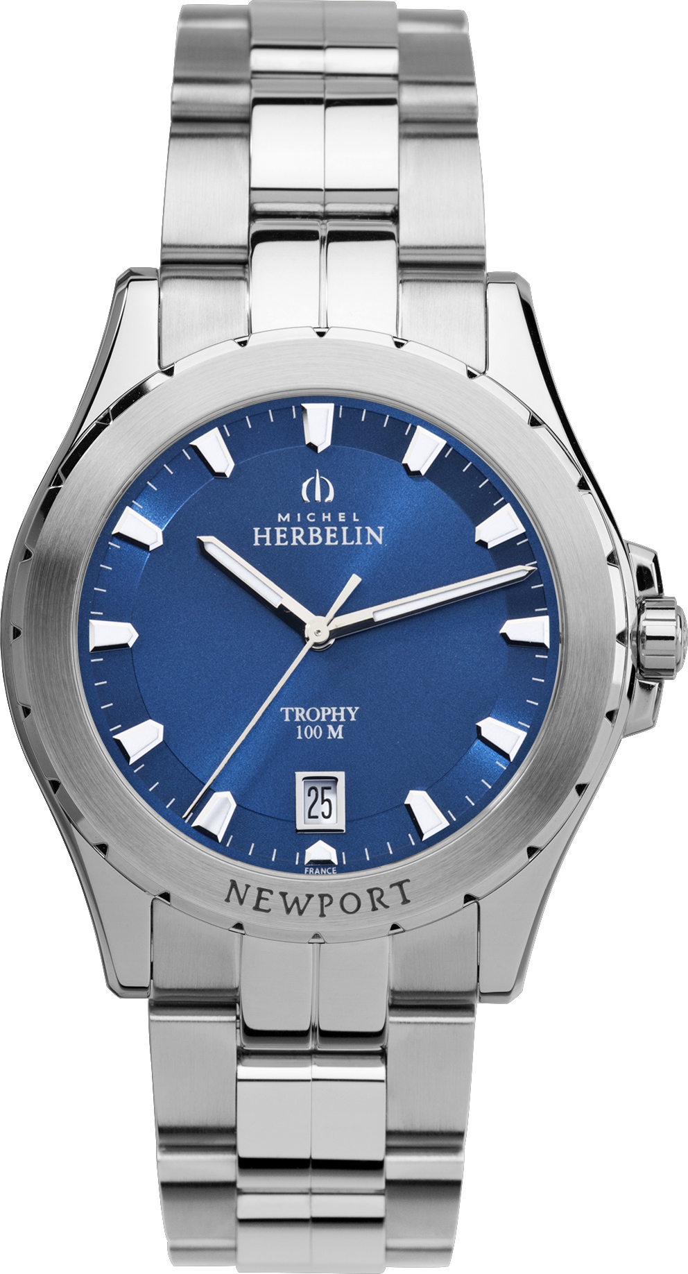 Mens St Steel Newport Trophy Bracelet watch