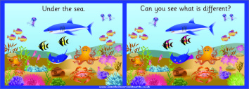 SPOT THE DIFFERENCE BOARD - UNDER THE SEA