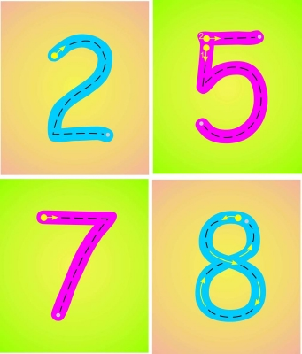 SET OF 11 INDIVIDUAL NUMBER FORMATION PLAQUES - MULTI