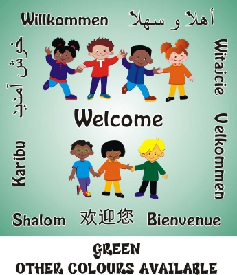 WELCOME BOARD - MULTICULTURAL CHILDREN