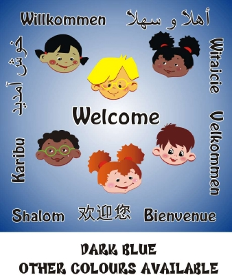 WELCOME BOARD - MULTICULTURAL  FACES