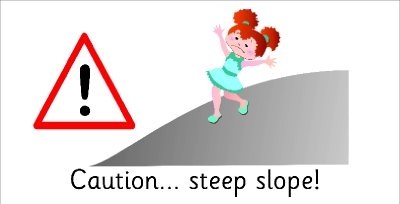 SAFETY SIGN - CAUTION STEEP SLOPE