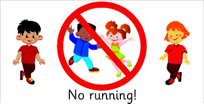 SAFETY SIGN - NO RUNNING!