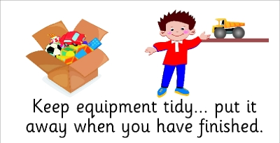 SAFETY SIGN - KEEP EQUIPMENT TIDY... PUT IT AWAY