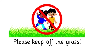 SAFETY SIGN - PLEASE KEEP OFF THE GRASS