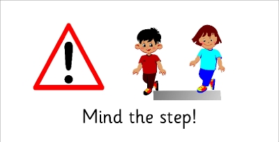 SAFETY SIGN - MIND THE STEP