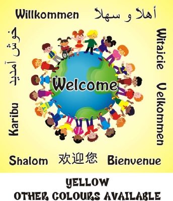 DISABILITY & MULTICULTURAL WELCOME BOARD GLOBE