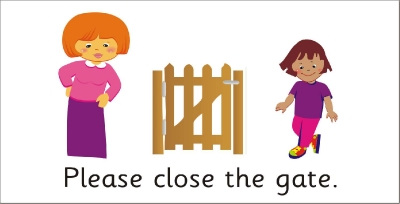 SAFETY SIGN - PLEASE CLOSE THE GATE