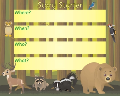 STORY STARTER BOARD - IN THE FOREST