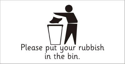 SAFETY SIGN - PLEASE PUT YOUR RUBBISH IN THE BIN 2
