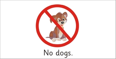 SAFETY SIGN - NO DOGS 2