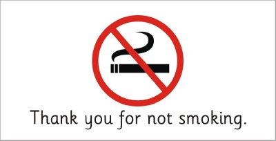 SAFETY SIGN - THANK YOU FOR NOT SMOKING