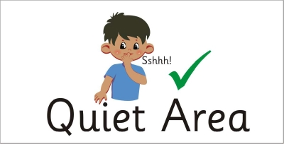 AREA SIGN - QUIET AREA