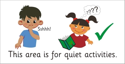 AREA SIGN - THIS AREA IS FOR QUIET ACTIVITIES 2