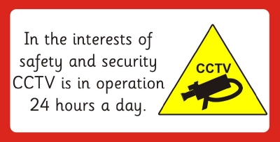 SAFETY SIGN - CCTV - 2 sizes available