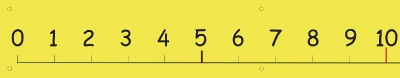 0 - 20 NUMBER LINE PVC BANNER with eyelets - PLAIN - BLACK ON YELLOW