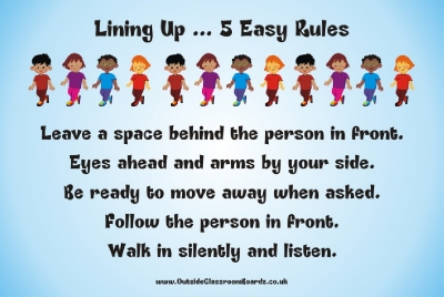 5 EASY LINING UP RULES BOARD