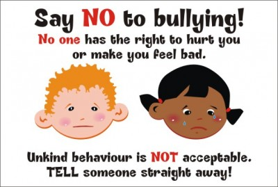 SAY NO TO BULLYING - No One Has The Right