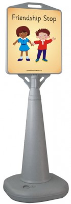 FREESTANDING WATERBASED CONE SIGN- FRIENDSHIP STOP