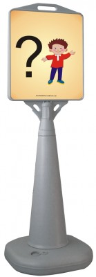 FREESTANDING WATERBASED CONE SIGN - YOUR REQUIREMENT
