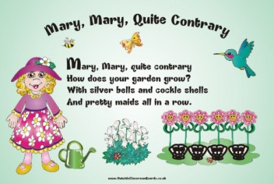 NURSERY RHYME - MARY, MARY QUITE CONTRARY