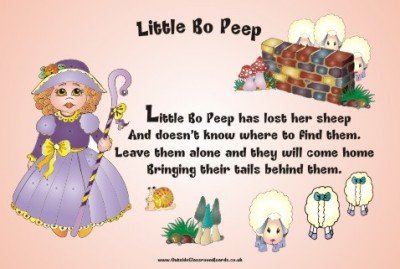 NURSERY RHYME - LITTLE BO PEEP