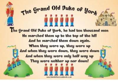 NURSERY RHYME - GRAND OLD DUKE OF YORK
