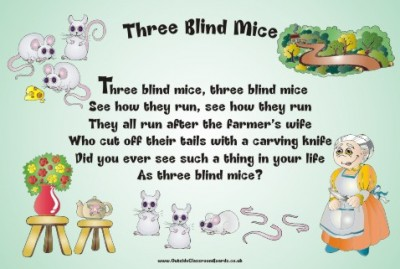 NURSERY RHYME - THREE BLIND MICE