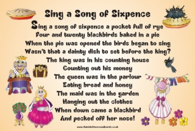 NURSERY RHYME - SING A SONG OF SIXPENCE
